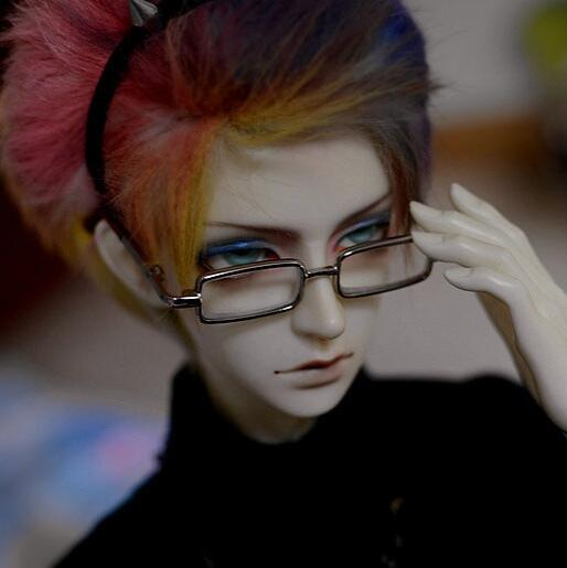NEW 1/3 SD17 Uncle <font><b>BJD</b></font> SD DD Doll Accessory Silver box <font><b>Glasses</b></font> image
