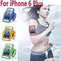 New gym workout esporte armband capa de couro para apple iphone 6 além de Saco de Braço Fashion Laço Corrida Equitação Suporte Caso Para iphone6 5.5
