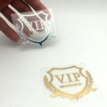 6cm*5.3cm VIP MOTORS logo metal nickel car sticker and decals Reflective emblem Door Window Body Auto Decor DIY Car styling vip motors pattern metal car decorative stickers golden black pair