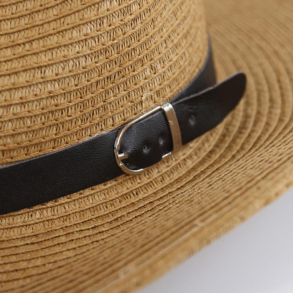Helpful Straw Western Cowboy Hats Made Stylish Cowboy Hat Beach Uniex Bie Brims Sun Hat Khaki 5 Colors Sun Protection Hat San0 Apparel Accessories