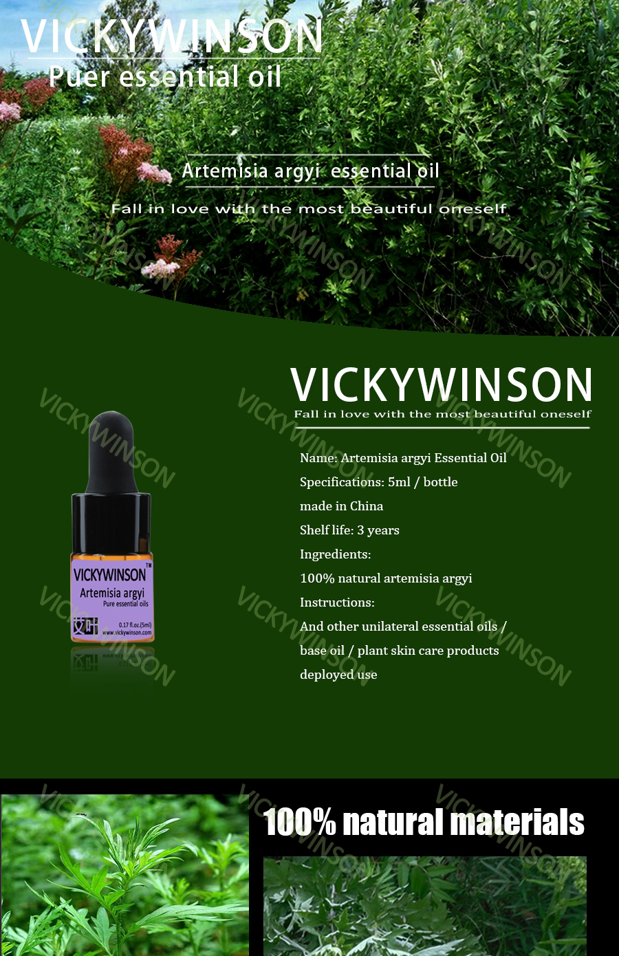 US $2 39 48% OFF|VICKYWINSON Artemisia argyi essential oil 5ml 100% pure  medicine Argy Wormwood Leaf herbal Essential oils WD1-in Essential Oil from