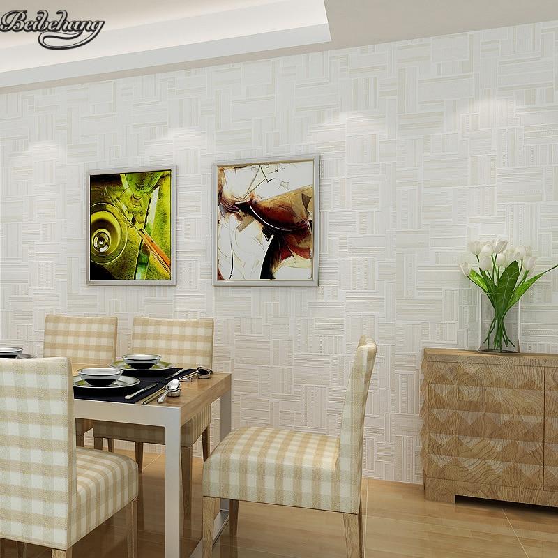 Beibehang Modern Sederhana Geometri Vertikal Bar Wallpaper R Tidur Ruang Tamu Hotel Pakaian Polos Hijau Di Dari Perbaikan