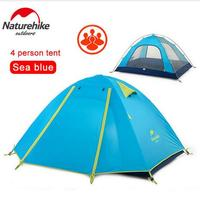 Brand Naturehike New Style High Quality Big Tourist Tent Double Layer Camp 4 Person Large Camping