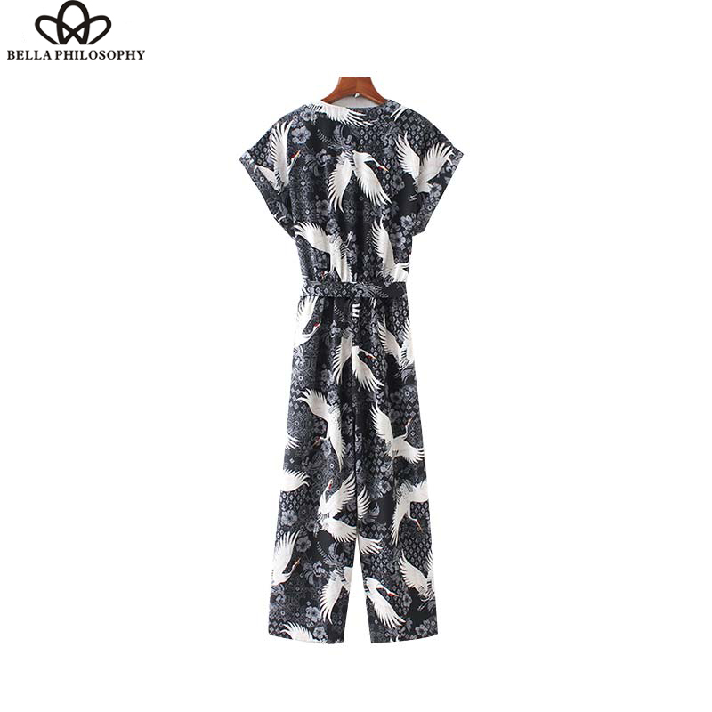Women Stylish dots Print Jumpsuits Sleeveless Bow tie Sashes Pockets Back Zipper Sweet Female Casual Chic Playsuits