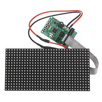 16X32 Colorful Multifunctional Clock Music Spectrum LED Lights Display Assembled Dot Rectangular Board