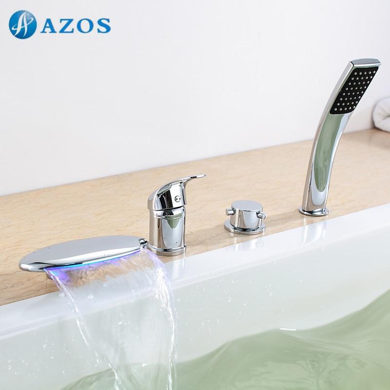 Bathtub Shower Faucets Chrome Polish Bathroom Suana 4pc Sets ...