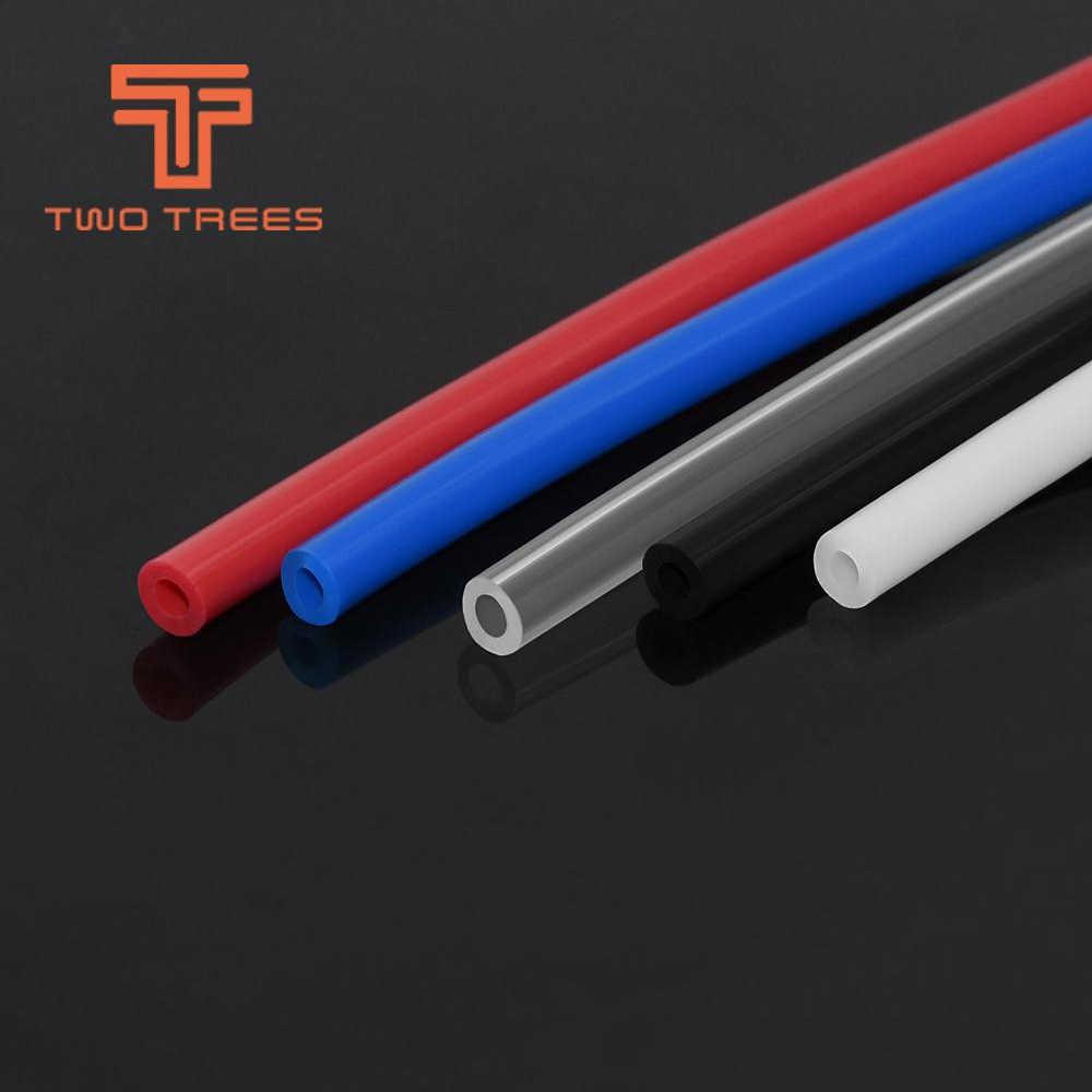 1M PTFE tüp Teflonto TL besleyici hotend Rostock Bowden ekstruder 1.75mm Filament kimlik 2mm OD 4mm klonlanmış Capricornus tüp Ender 3