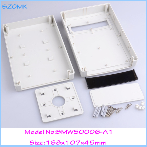 1 piece plastic box electronics cover electronic wall mount project 168x107x45 mm