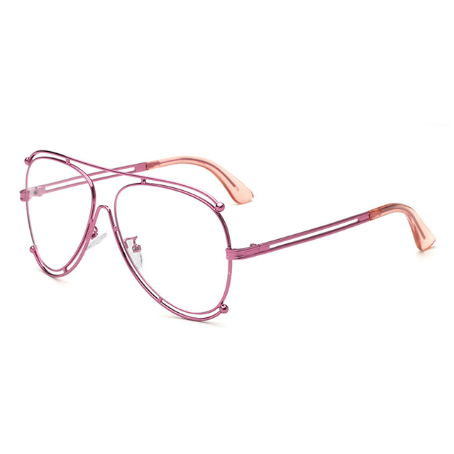 b8907f414fd Myopia Glasses Frame 2017 New Personality Brand Design Metal Flat Glasses  Large Frame Men Women 070
