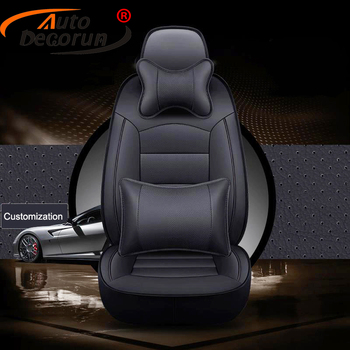 AutoDecorun Cowhide Custom Seat Cover Car for Hyundai Equus Accessoires Automobiles Seat Covers Genuine Leather Cushion Supports