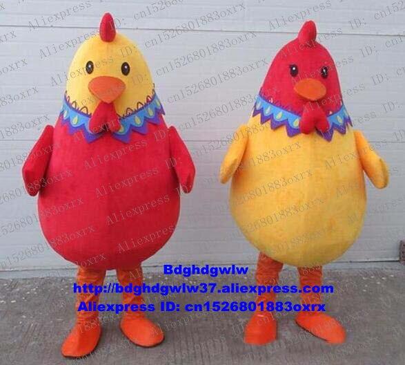 Cock Hahn Henne Küken Huhn Chook Chickling Maskottchen Kostüm Cartoon Charakter Bildung Ausstellung Willkommen Abendessen Zx1331