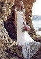 Vestido де noiva 2016 Русалка Пляж Свадебное Платье Милая Короткие Рукава Sexy Back Свадебные Платья На Заказ