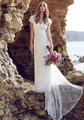 Vestido de noiva 2016 Mermaid Beach Lace Wedding Dress Sweetheart Short Sleeves Sexy Back Wedding Gowns Custom Made