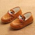 2016 весна осень новый ребенок ребенок кожаные ботинки мягкое дно мальчики детская обувь для мальчиков детские плоской кожаной обуви мода причинно обуви