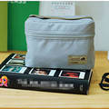 Grey Bento Pouch Thermal Insulated Cooler Bag Casual Lunch Bag Container Lunch Dining Travel Tote Waterproof Picnic Bag