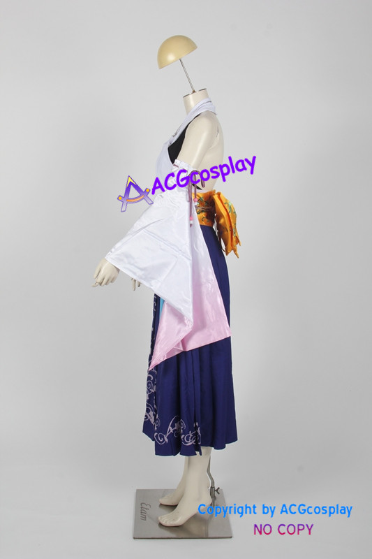 Final Fantasy X 10 Yuna cosplay costume comprennent collier oreille anneaux bague perles chaîne - 2
