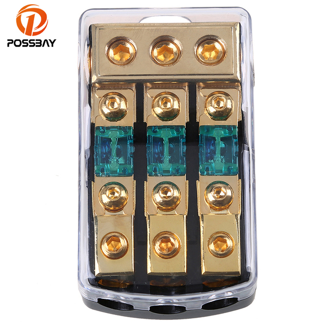 Possbay Car Audio 1 In 3 Ways Out Distribution Block Fuse Box Best Audio Capacitors Auto Fuses Yellow Fuse Wire Car Radio With Case At IT-Energia.com