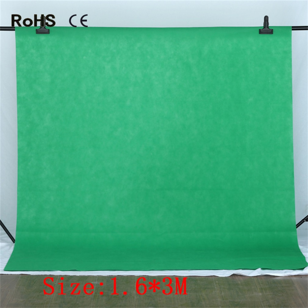 1.6*3M Nonwoven Fabric Photography Background Studio Backdrop Photo Background Screen Photography Accessories White Black Green скребок для швов плитки kwb 0301 00