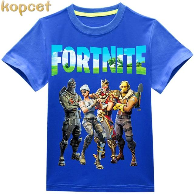 New 2018 boy's t shirt popular Ninja cotton short-sleeved t-shirt printing children's cartoon blue kids boys child's clothes