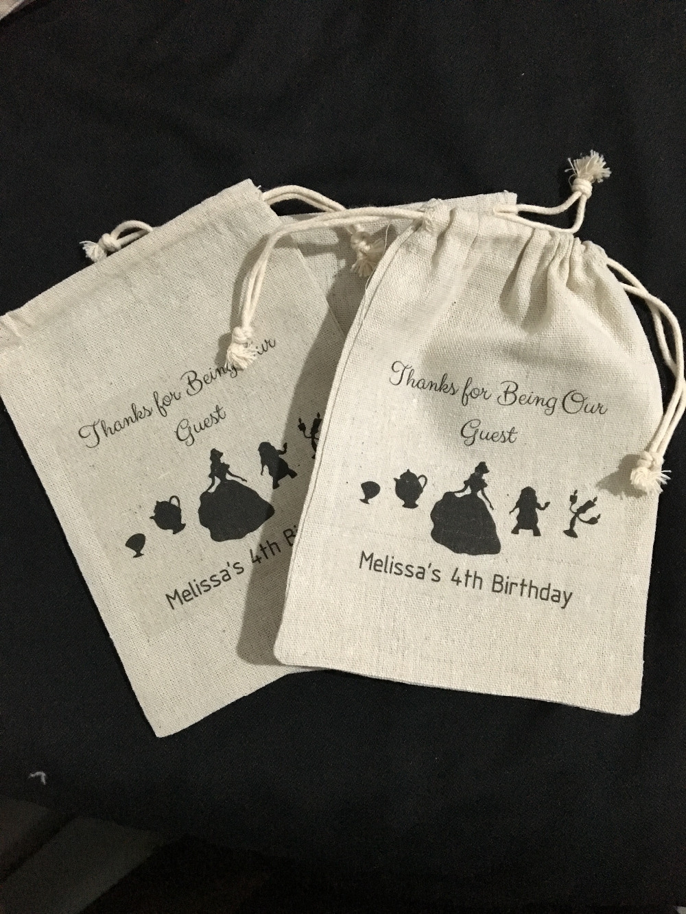 Personalized Beast And Beauty Wedding Birthday Jewelry Favor Muslin Gifts Bags Bachelorette Party First Aid Hangover Kits In Gift Wrapping Supplies