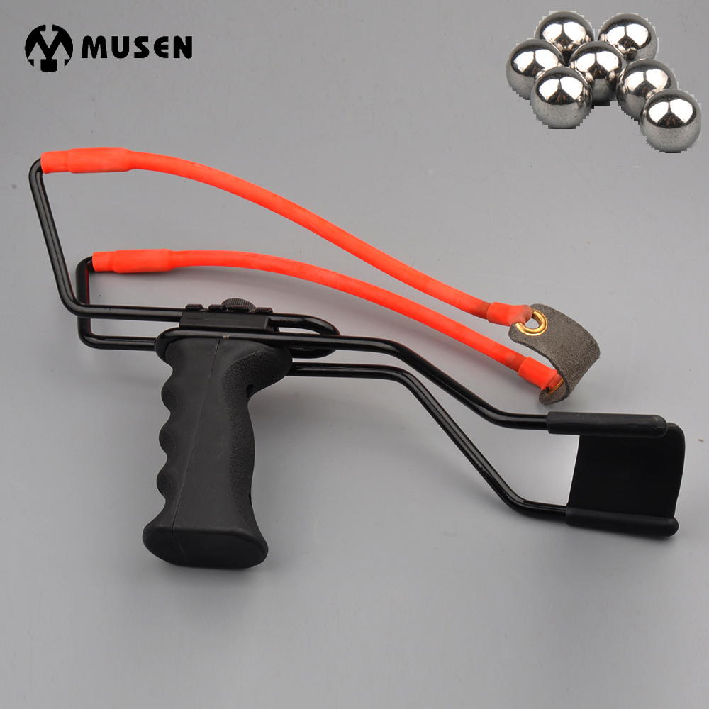 High Quality Slingshot Powerful Catapult Stainless Steel Aluminium Alloy Sling Shot Caza with Stretching Wrist for Hunting fish slingshot with the fishing wheel and laser flashlight stainless steel aluminium alloy archery shooting hunting equipment