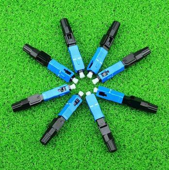 Fibra óptica SC conector rápido multimodo FTTH SC modo único UPC conector rápido (10 uds, 50 uds, 100 Uds. Para la opción)