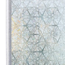 60x200cm Privacy 3D Decorative Stained Glass Window Film Rainbow Effect Self Adhesive Sticker Static Cling