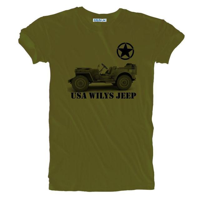 6d69ddb7265 2019 Summer Fashion New USA Army Vintage Retro WW 2 Wilys Jeep T-shirt Sizes