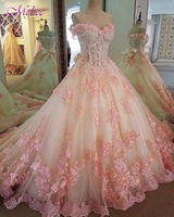Melice Elegant Sweetheart Neck Beaded Sequined Ball Gown Quinceanera Dress 2017 Appliques Debutante Dress For Vestido