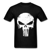 Hot Sale Mens T SHIRT Short Sleeve Punisher Skull tshirt Cheap 3D Print Man T-Shirt Plus Size