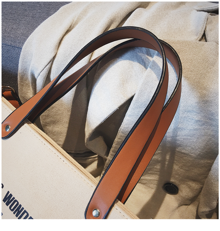 Luxury Ladies Bags Canvas Fashion Large Capacity Tote Bags Letter Shoulder Messenger Bags for Women 2018 Casual Tote Luis Vuiton 18