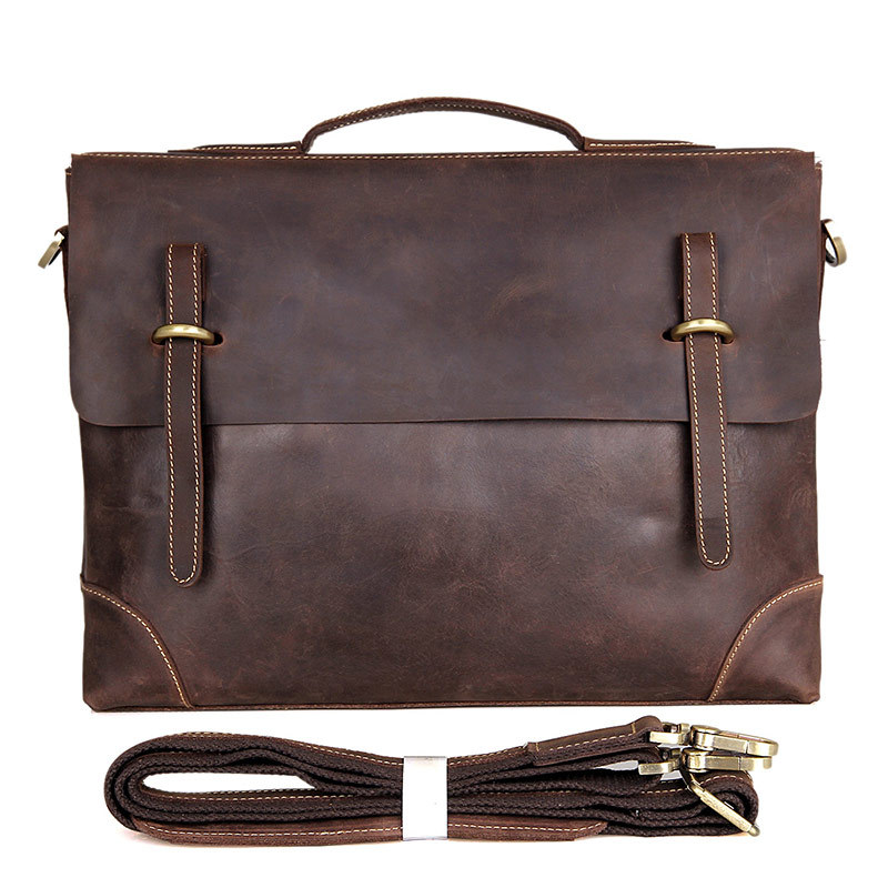 Mens casual briefcase business Shoulder bags Men messenger bags  Computer Laptop Handbag Bag Men crazy horse Leather 7228 vintage genuine leather men briefcase bag business men s laptop notebook high quality crazy horse leather handbag shoulder bags