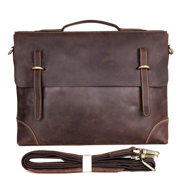 2c756f9804e5 Mens casual briefcase business Shoulder bags Men messenger bags Computer Laptop  Handbag Bag Men crazy horse