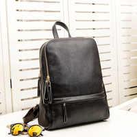 Fashion Echtes Leder Frauen Rucksack Damen Reisetaschen Mädchen Schul Adrette 3 Ways Tragen Mode Knapsack neue C679