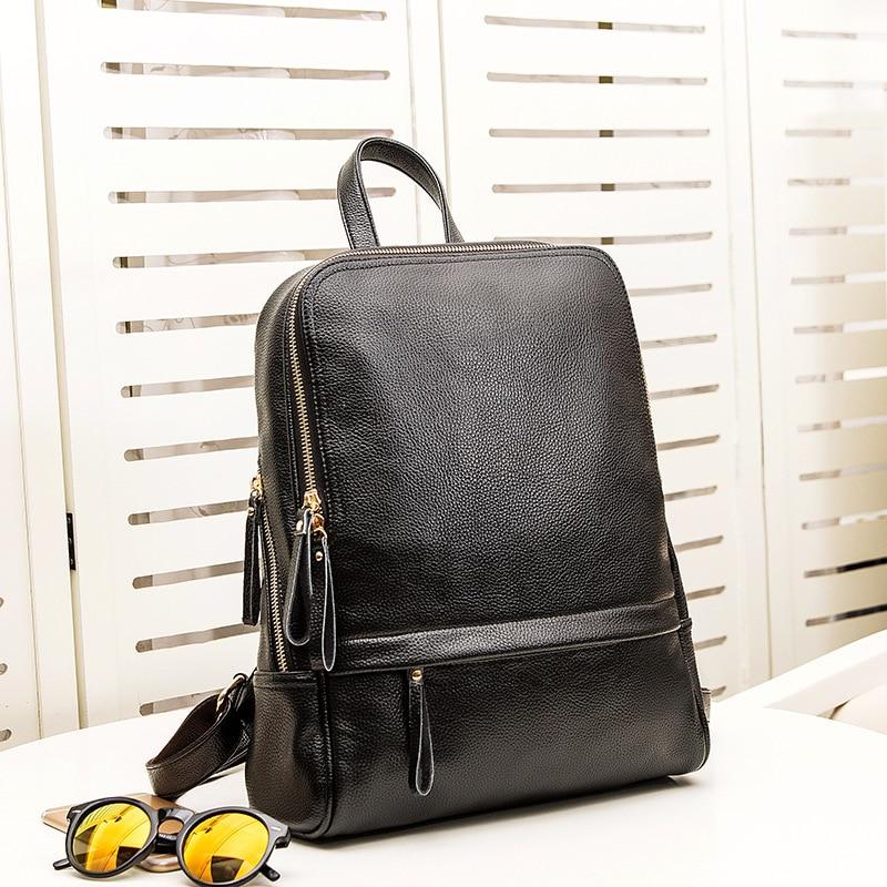 Fashion Genuine Leather Women Backpack Ladies Travel Bags Girl Schoolbag Preppy Style 3 Ways Wearing Fashion Knapsack new C679Fashion Genuine Leather Women Backpack Ladies Travel Bags Girl Schoolbag Preppy Style 3 Ways Wearing Fashion Knapsack new C679