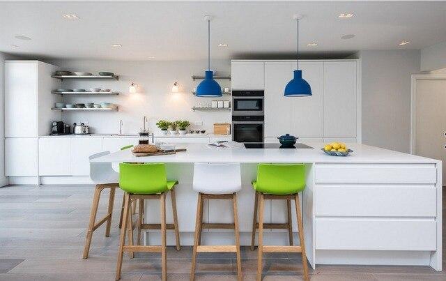 2017 moderno lucido laccato bianco mobili da cucina su misura mobili ...