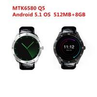 2017 החדש q5 smart watch עבור iphone xiaomi huawei htc watchs אנדרואיד 5.1 512 MB + 8 GB bluetooth WIFI GPS כרטיס ה-SIM תמיכת 3 גרם pk D5 +