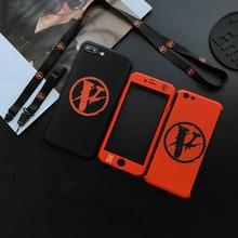 New 360 Full bady protection hard plastic +glass case for iphone 6 6S 7  plus 8 Japan tide Vlone Fragment Design Nigo brand cover 733b3d5e56e4