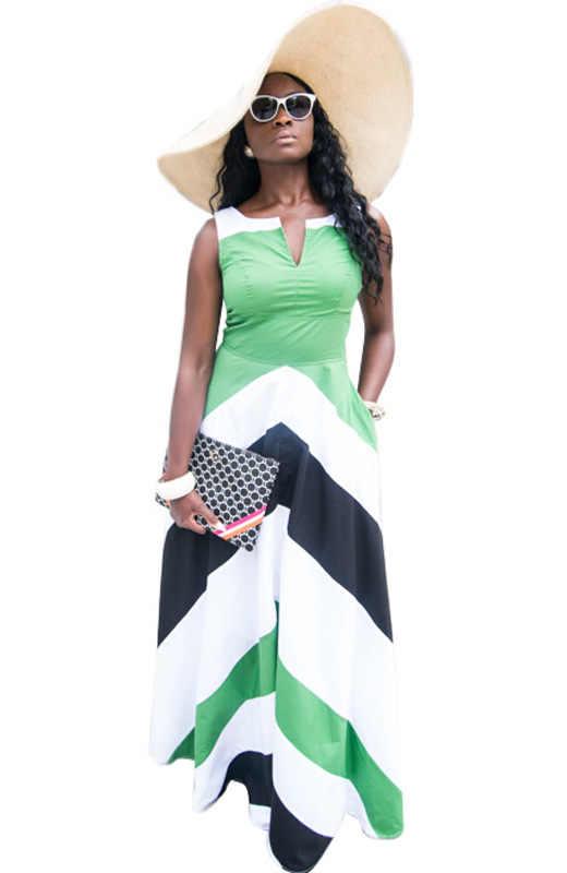 Sari algodón poliéster ropa Real Sari indio 2017 Venta caliente nueva Europa y la moda Sexy Cool vestido de rayas sin mangas