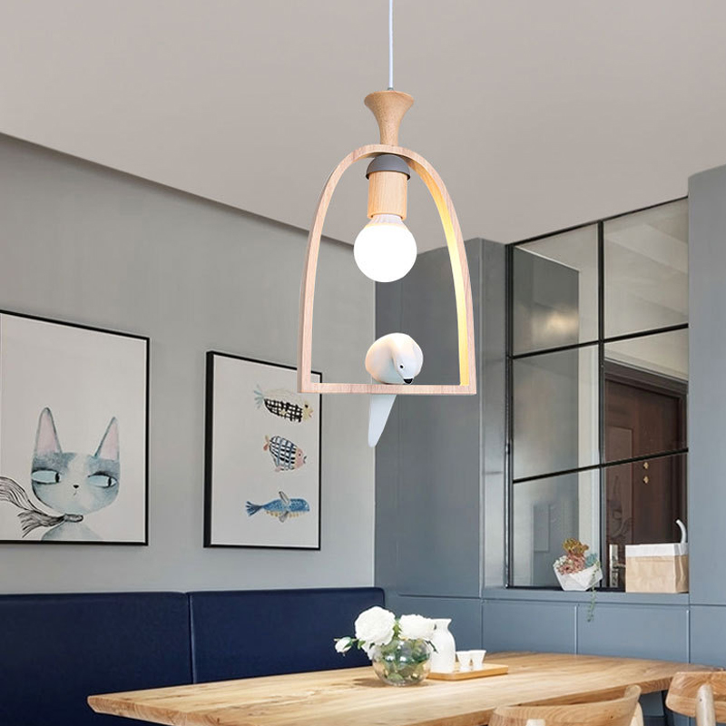 nordic modern bird pendant light sconces living room cafe bar restaurant dining room bedroom study office stair corridor lamps [mingben] earth pendant light e27 socket creative arts cafe bar restaurant bedroom home dining room nordic pendant lamps 90 260v