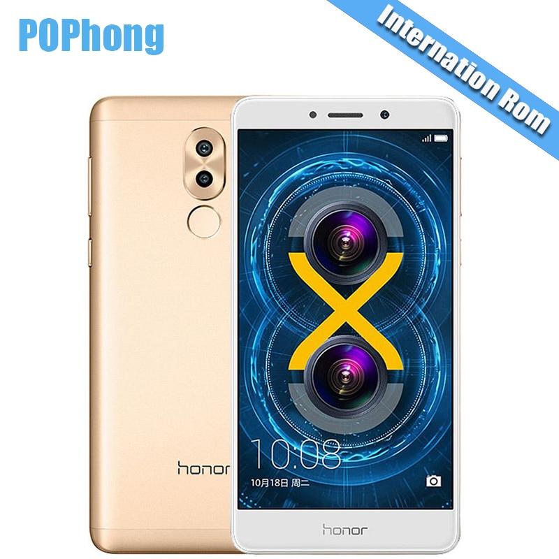 bilder für Internationalen Firmware Huawei Honor 6X3 GB/4 GB RAM 32G/64 GB ROM 5,5 zoll Smartphone Android Octa-core Kirin 655 LTE 12.0MP + 2.0MP