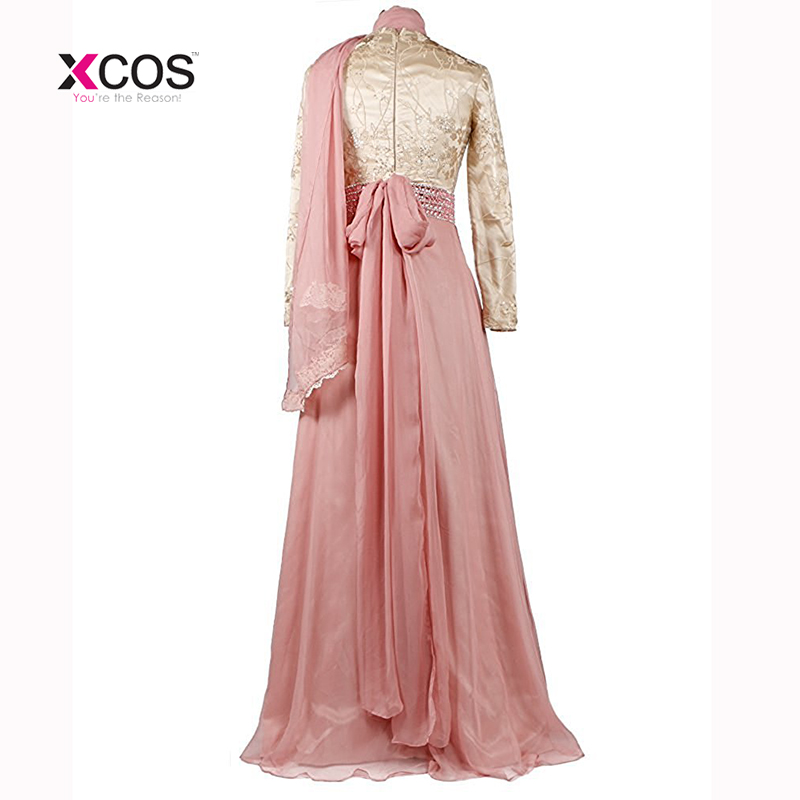 Vestido de festa Long Sleeve Muslim Evening Dress 2018 Hijab Abaya - Gaun acara khas - Foto 4