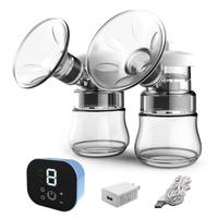 Nipple Suction Touch Screen Automatic Double Breast Pump Electric USB Charging