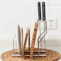 Stainless steel knife holder kitchen pot lid chopping board kitchen utensils storage racks Drain racks
