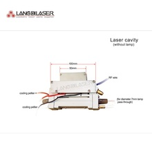 Handpiece Flash-Lamp Laser with Crystal Size:50--15 for 7mm IPL Pass-Through Cavity-Parts