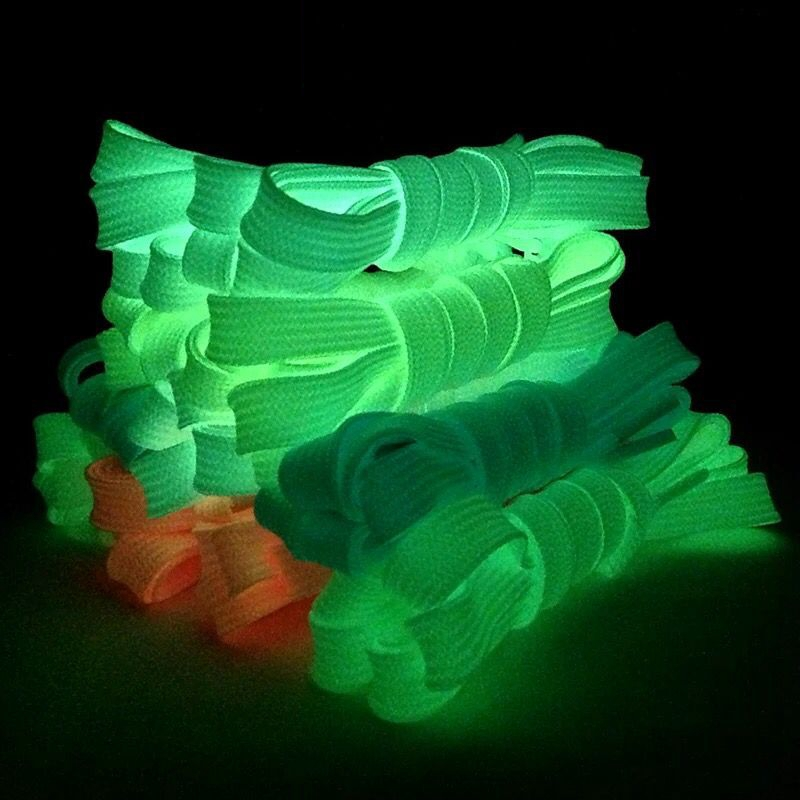 1Pair Luminous Shoelace Athletic Sneakers Off White Shoe Laces Party Glowing Shoe Lace Fluorescent Shoelaces 80/100/120/140CM