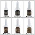 CHUSE 6 pcs J01 Cosméticos Golden rose Micro Pigmento de tintas de maquiagem Permanente pigmento da tinta de alimentação 12 Cores Para Escolher Tatuagem tatuagem