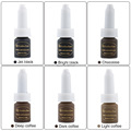 CHUSE 6pcs Permanent makeup inks J01 Cosmetic Golden rose Micro Pigment ink pigment supply 12 Colors For Choose  Tattoo Tattoo