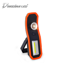купить 2-in-1 Portable Working Lamp LED Torch magnet Floodlight emergency Tent lamp Outdoor Camping Light Zoomable Flashlight with Hook дешево