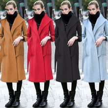 2015 Muslim clothing Islamic coat for women wool+cashmere coat plus size warm outwear European Women's Clothing Manteau